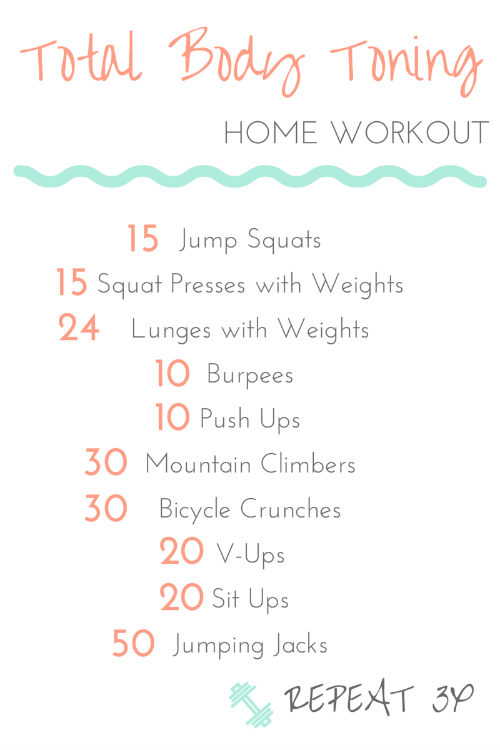 This Total Body Toning Is The Perfect Workout To Do At Home Or Outdoors Not