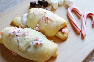 Candy Cane Croissant Rolls