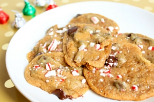 Crushed Candy Cane Chocolate Chip Cookies - Pinterest Fail