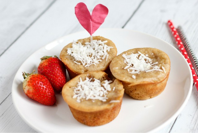 Brown Sugar Banana Bread Muffin Recipe with Shaved Coconut Topping