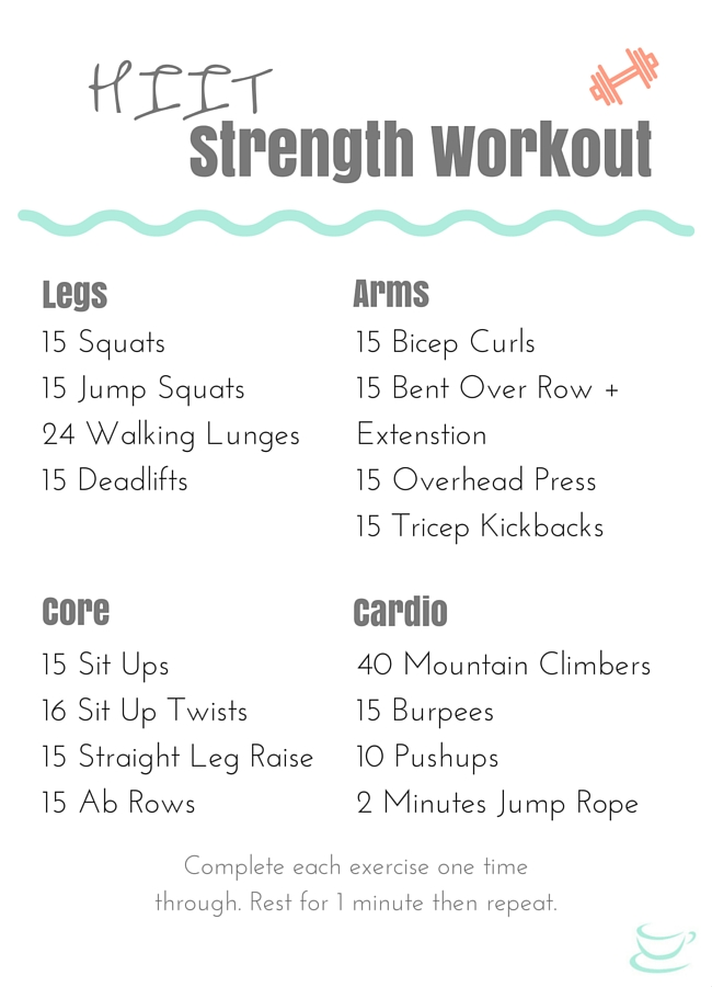 Beginner Hiit Strength Training Workout That S Quick And Effective
