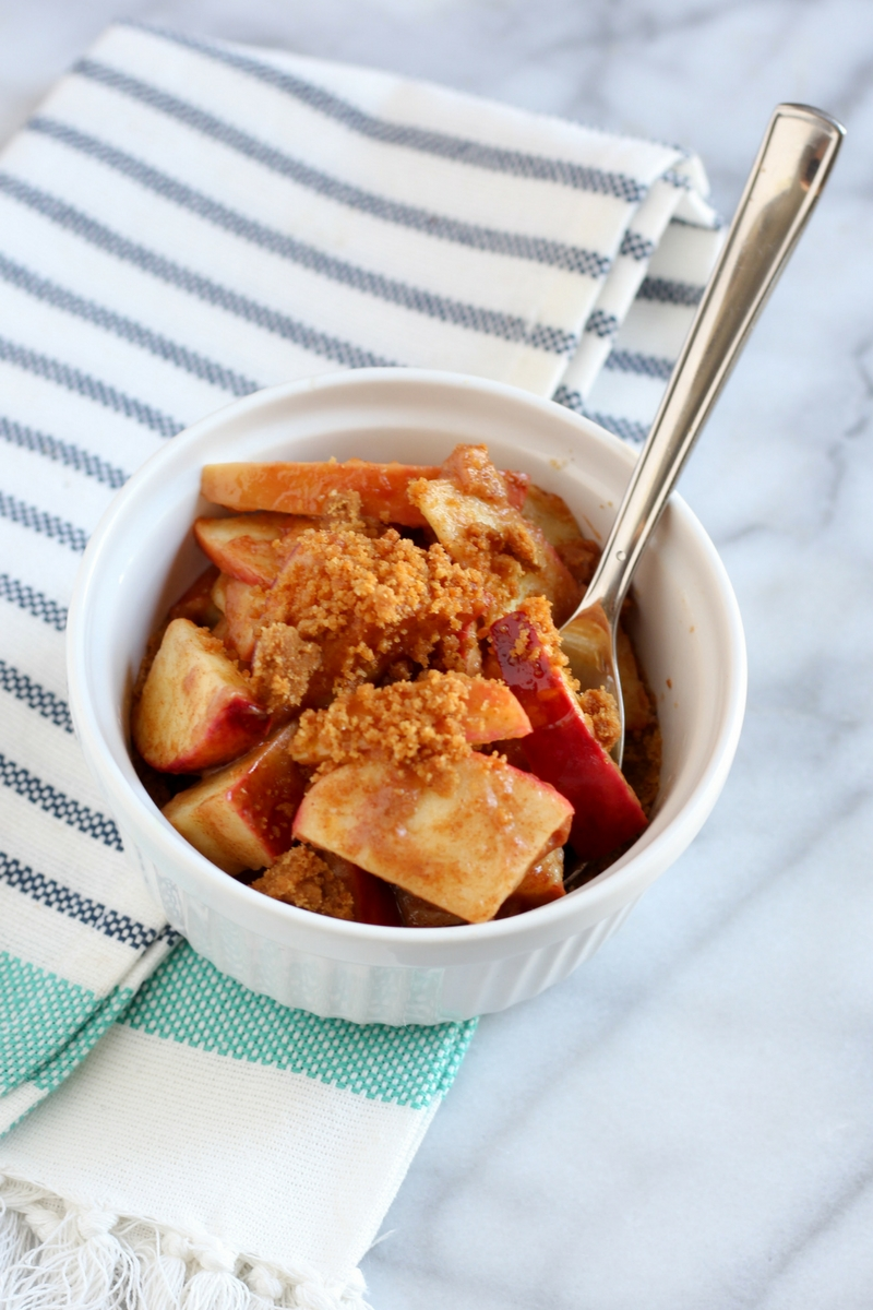 This Baked Apple Crisp is perfect for a fall treat with minimal guilt!