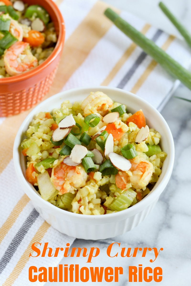 Easy Shrimp Curry Cauliflower Rice Recipe