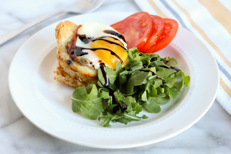 Blueberry Goat Cheese & Prosciutto Egg Bakes - A Cup of Kellen