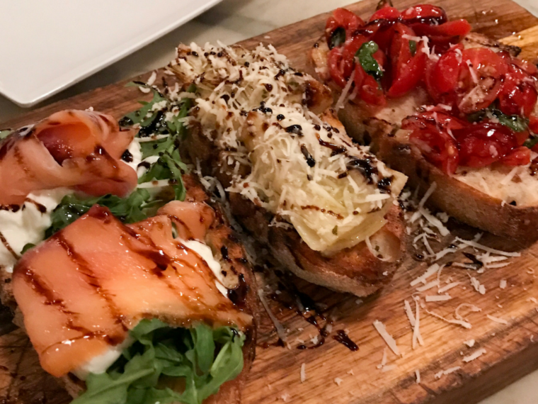Bruschetta at Bueno Forchetta in South Park San Diego