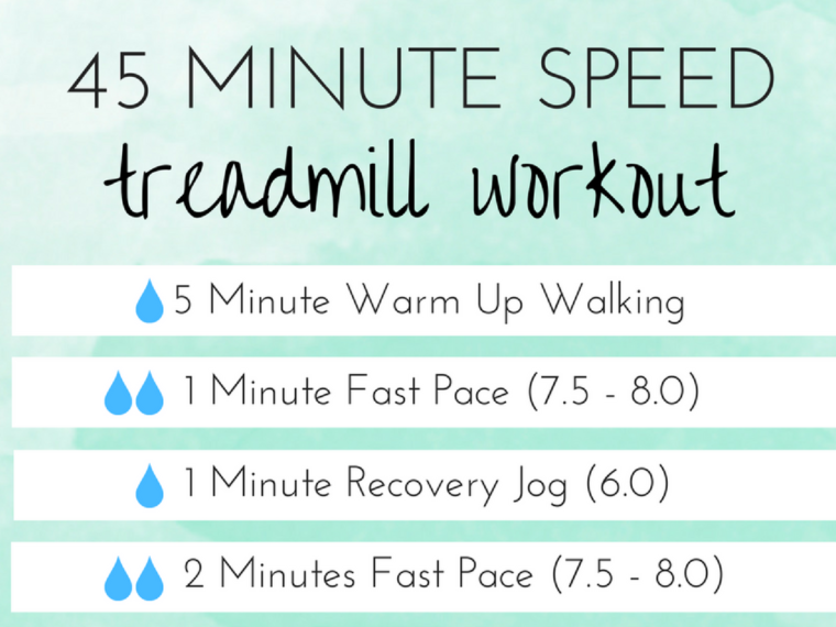 45 Minute Speed Workout for the Treadmill