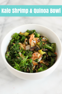 Light and healthy Kale Shrimp and Quinoa Bowl