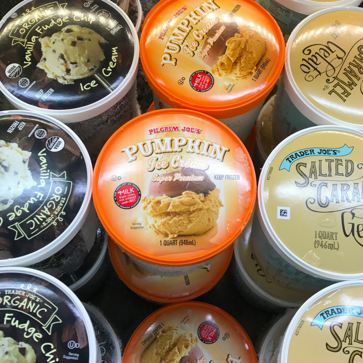 Pumpkin Ice Cream available for a limited time at Trader Joe's