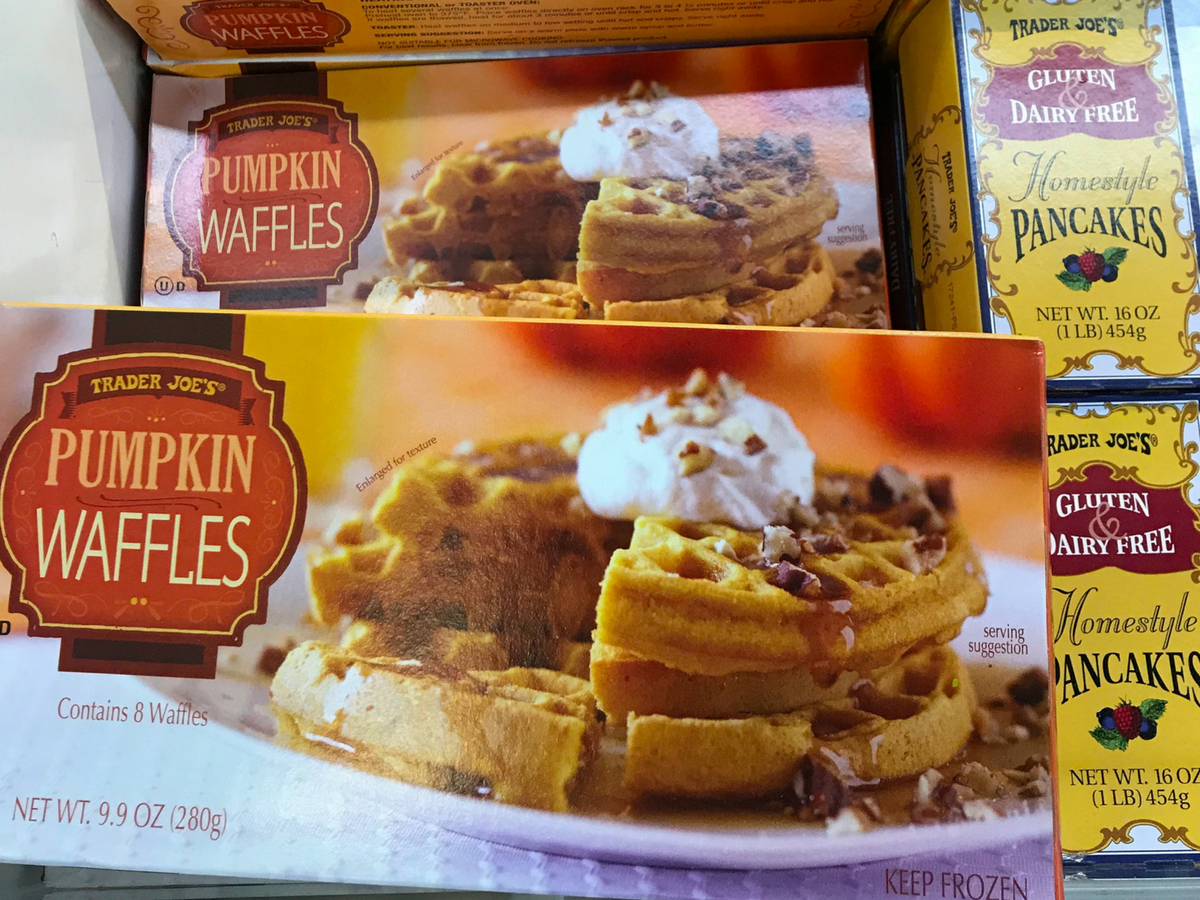 Pumpkin Waffles at Trader Joe's